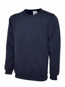 AJ684 - Navy Blue Crew Neck Jumper
