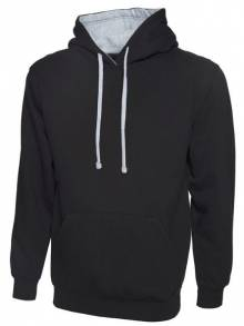 Contrast Hooded Sweatshirt - UC507Q