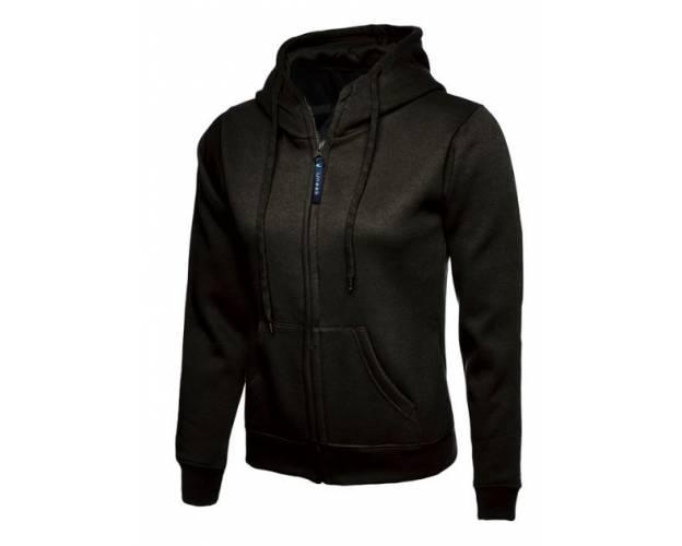 Uneek Ladies Classic Full Zip Hooded Sweatshirt - UC505Q