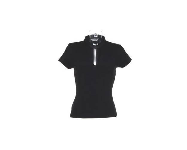 Kustom Kit Ladies Short Sleeve V Neck Mandarin Collar Top - KK770Q