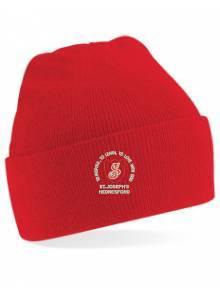 AJ998 - Red Beanie Hat O/S