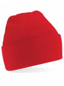 AJ889 - Red Beanie Hat O/S