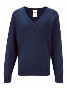 AJ930 - V-Neck Jumper Navy Boys Jumper