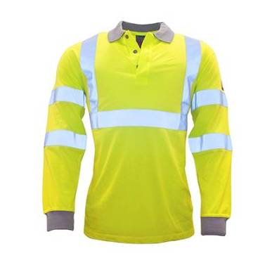 Portwest Flame Resistant Anti Static HiVis Polo LS - FR77Q