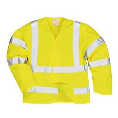 Portwest Hi-Vis Jacket Flame Resistant Finish - FR73Q