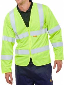 FIRE RETARDANT HI-VIS JERKIN SATURN YELLOW - CFRPKJQ