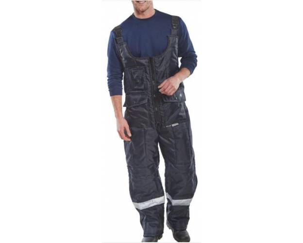 Coldstar Freezer Bib Trousers Navy Blue - CCFBTNQ