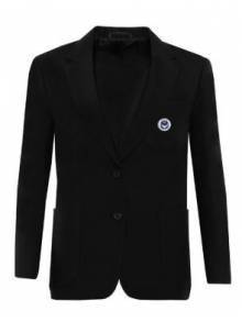AJ015 - Black Girls Zip Entry Blazer