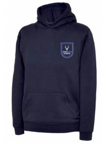 AJ684 -Navy Children's Hooded Sweatshirt