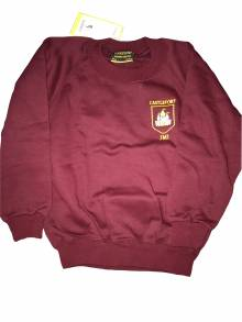 AJ834 - Burgundy Crew Neck Sweatshirt