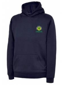 AJ908 - Navy Hooded Sweatshirt