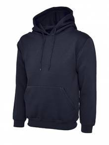 AJ908 - Navy Hooded Sweatshirt
