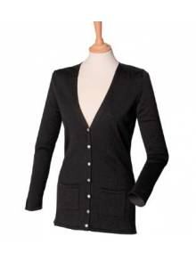 Henbury Women's V-button Cardigan - HB723