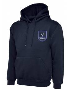 AJ684 - Navy Classic Hooded Sweatshirt