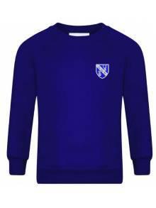 AJ012 - Royal Blue Crew Neck Sweatshirt - SWR