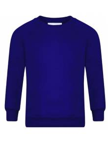 AJ012 - Royal Blue Crew Neck Sweatshirt - SWR