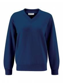AJ908/2 - Navy V-Neck Sweatshirt