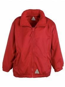 AJ889 - Red Waterproof Fleece Jacket