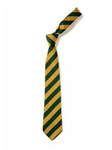"""TIE - GREEN AND GOLD STRIPED - 45"""""""