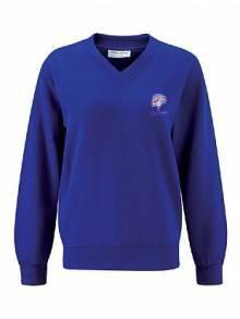 AJ851 - Select Royal V-Neck Sweatshirts
