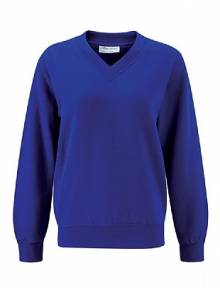 AJ851 - Select Royal V-Neck Sweatshirts