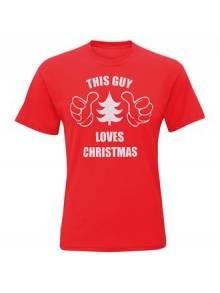 """Men's """"This Guy Loves Christmas"""" Short Sleeve Tee - CJ200"""