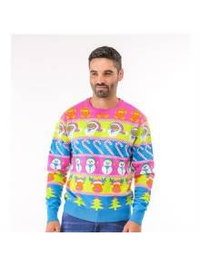 Adult Multi Character Christmas Jumper - CJ002