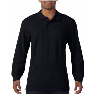 Gildan Premium Cotton Adult Long Sleeve Double Pique Polo - 85900
