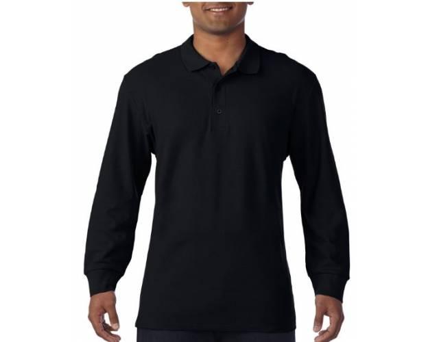 Gildan Premium Cotton Adult Long Sleeve Double Pique Polo - 85900
