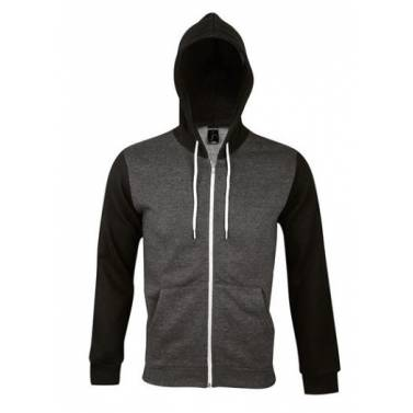 Sols Unisex Silver Hooded Jacket - 47700