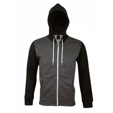 Sols Unisex Silver Hooded Jacket - 47700