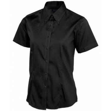 Uneek Ladies Pinpoint Oxford Half Sleeve Shirt - UC704