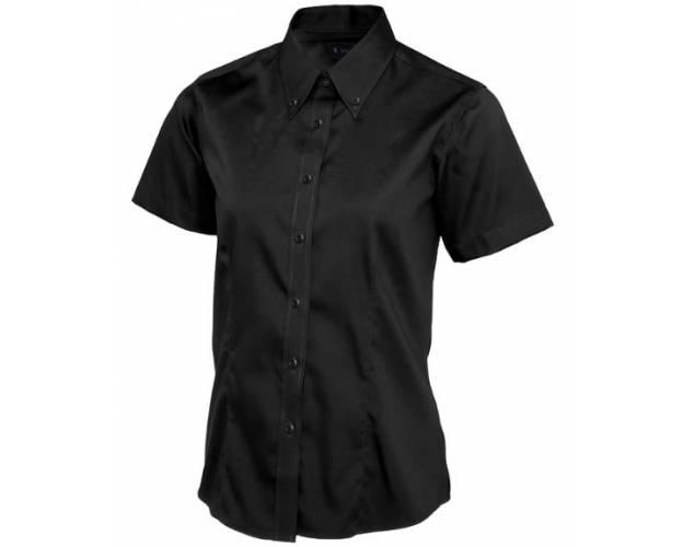 Uneek Ladies Pinpoint Oxford Half Sleeve Shirt - UC704