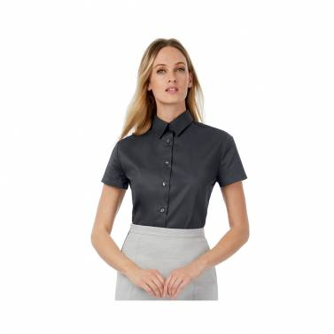 B&C Collection Womens Sharp Short Sleeve Blouse - B713F