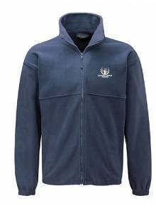 AJ949 - Navy Full Zip Micro Fleece Jacket