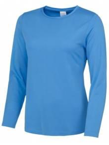 AWDis Sapphire Ladies Long Sleeve Cool T Shirt - JC012