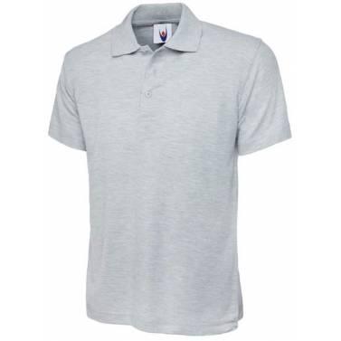 Uneek Olympic Polo Shirt Heather Grey - UC124Q