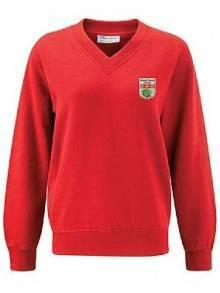 AJ919 - Red V-Neck Sweatshirt