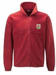 AJ919 - Red Full Zip Fleece