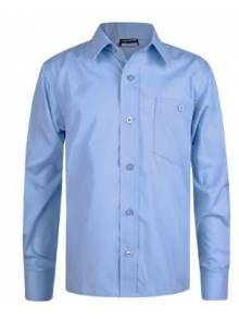 AJ684 - Sky Blue Long Sleeve Boys Shirt Twin Pack