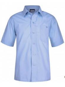 AJ684 - Sky Blue Short Sleeve Boys Shirt Twin Pack