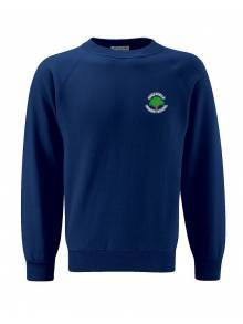 AJ433 - Select Raglan Navy Crew Neck Sweatshirt
