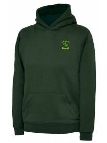 AJ992 - Bottle Green Hooded Sweatshirt - UC503