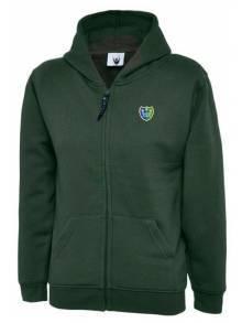 AJ000 - Bottle Green Classic Full Zip Hooded Sweatshirt - UC506