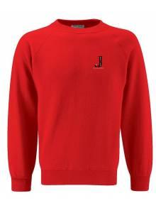 AJ2021- Red Crew Neck Sweatshirt