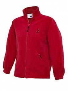 AJ2021 - Red Full Zip Micro Fleece Jacket