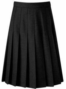 AJ875 - Black Pleat Skirt