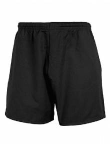 Twill Black Sports Shorts (Junior)