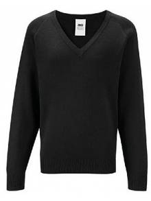 AJ875 - Black V Neck Jumper