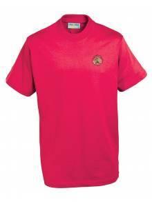 AJ123 - Champion Tee Shirt Red